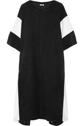 Dkny Color Block Terry Kaftan Black