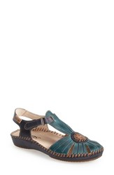 Women's Pikolinos 'P. Vallerta' Leather Flat Petrol Leather