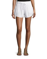 Jach's Girlfriend Diana Drawstring Shorts White