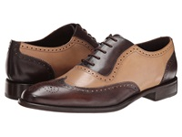 Messico Capuchino Brown Natural Leather Men's Dress Flat Shoes