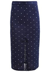 Glamorous Pencil Skirt Navy Dark Blue