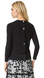 Marc Jacobs Embroidered Classic Crew Sweater Black