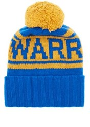 The Elder Statesman X Nba Men's Warriors Cashmere Pom Pom Beanie Blue