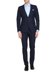 Paoloni Suits And Jackets Suits Men Dark Blue