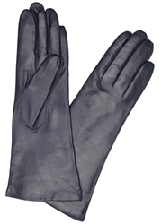 Dents Navy Cashmere Lined Leather Gloves
