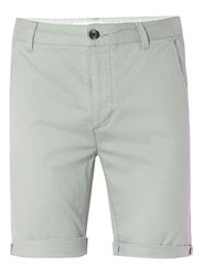 Topman Light Green Stretch Skinny Chino Shorts Khaki