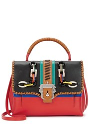 Paula Cademartori Petite Faye Red Leather Tote