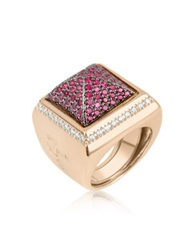 Azhar Pink Cubic Zirconia Square Ring