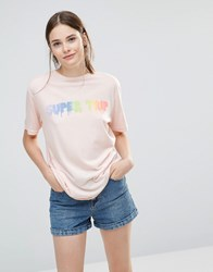 This Is Welcome Rainbow Boyfriend T Shirt White