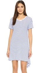Sundry Stripe Asymmetrical Dress Blue Stripe