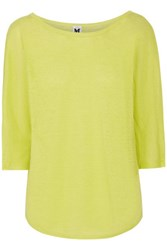 M Missoni Linen Jersey Top Lime Green