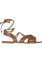 Tomas Maier Leather Sandals Brown