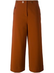 Tibi 'Anson' Cropped Trousers Yellow And Orange