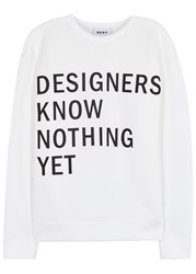Dkny Designers Know Nothing Yet Neoprene Sweatshirt White And Black