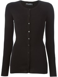 Dolce And Gabbana Fitted Cardigan Black