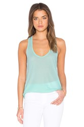 James Perse High Hauge Jersey Tank Baby Blue