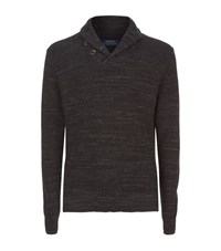 Polo Ralph Lauren Shawl Neck Jumper Male Black