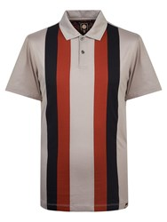 Pretty Green Men's Brindle Polo Light Grey