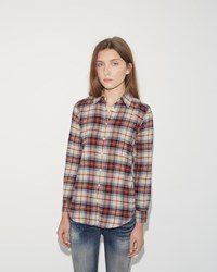 R 13 Baby Shirt Ecru Plaid