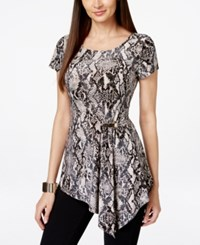 Inc International Concepts Asymmetrical Snake Print Tunic Only At Macy's