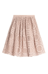Burberry Floral Lace Cotton Skirt