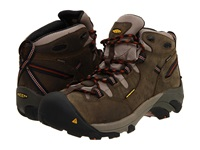 Keen Utility Detroit Mid Soft Toe Black Olive Leather Brown Men's Work Boots