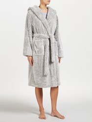 John Lewis High Pile Fleece Robe Grey