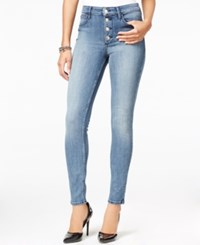 Guess 1981 Button Front Juanga Wash Skinny Jeans