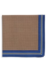 Men's Calibrate Microdot Pocket Square Brown