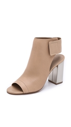 Vince Faye Open Toe Booties Nude Aged Pewter