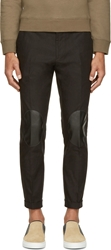 Christopher Kane Black Leather Patch Trousers