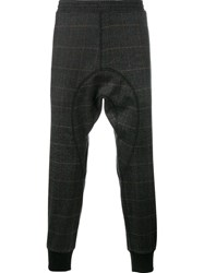 Neil Barrett Check Print Sweatpants Grey