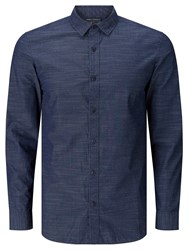 John Lewis And Co. Horizontal Stripe Shirt Indigo