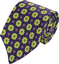 Kiton Medallion Neck Tie Purple