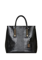 Hallhuber Croc Print Shopper Bag Black