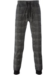 Christian Pellizzari Houndstooth Pattern Trousers Black