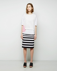 Tsumori Chisato Striped Combo Skirt Black