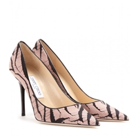 Jimmy Choo Abel Zebra Lace And Suede Pumps