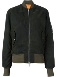 Unravel Camouflage Bomber Jacket Green