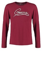 Converse Long Sleeved Top Deep Bordeaux