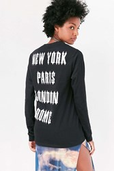 Urban Outfitters Major Cities Long Sleeve Tee Black