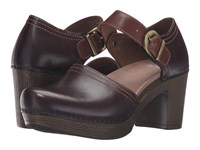 Dansko Darlene Chocolate Full Grain Leather Women's Clog Shoes Brown