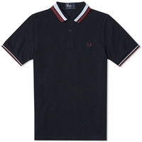 Fred Perry Bold Tipped Polo Navy