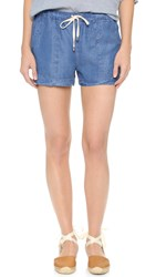 Splendid Indigo Buffet Shorts Medium Wash