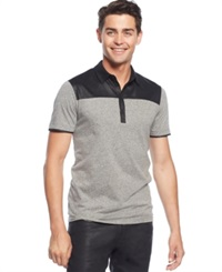 Guess Thrash Melange Polo Jet Black