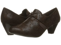 Soft Style Gretel Dark Brown Paisley Faux Suede Women's 1 2 Inch Heel Shoes