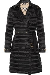 Burberry Brit Quilted Shell Down Coat Black