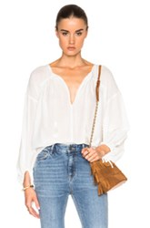 Derek Lam 10 Crosby Gauze Blouse In White