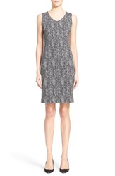 Women's Armani Collezioni Herringbone Jacquard Sheath Dress