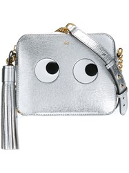 Anya Hindmarch 'Eyes' Crossbody Bag Metallic
